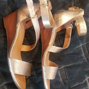 Summer sandals, great condition gold